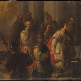 Curación y acción de gracias del príncipe don Carlos. Serie de la Vida de San Diego de Alcalá