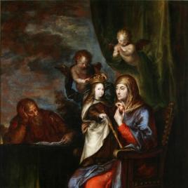 Santa Ana, San Joaquín y la Virgen