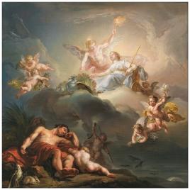 La diosa Juno penetrando en la mansión del Sueño
