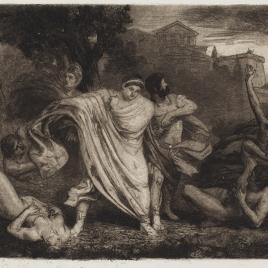 Nerón huyendo de Roma