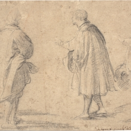 Cuatro figuras de caballeros en diferentes actitudes