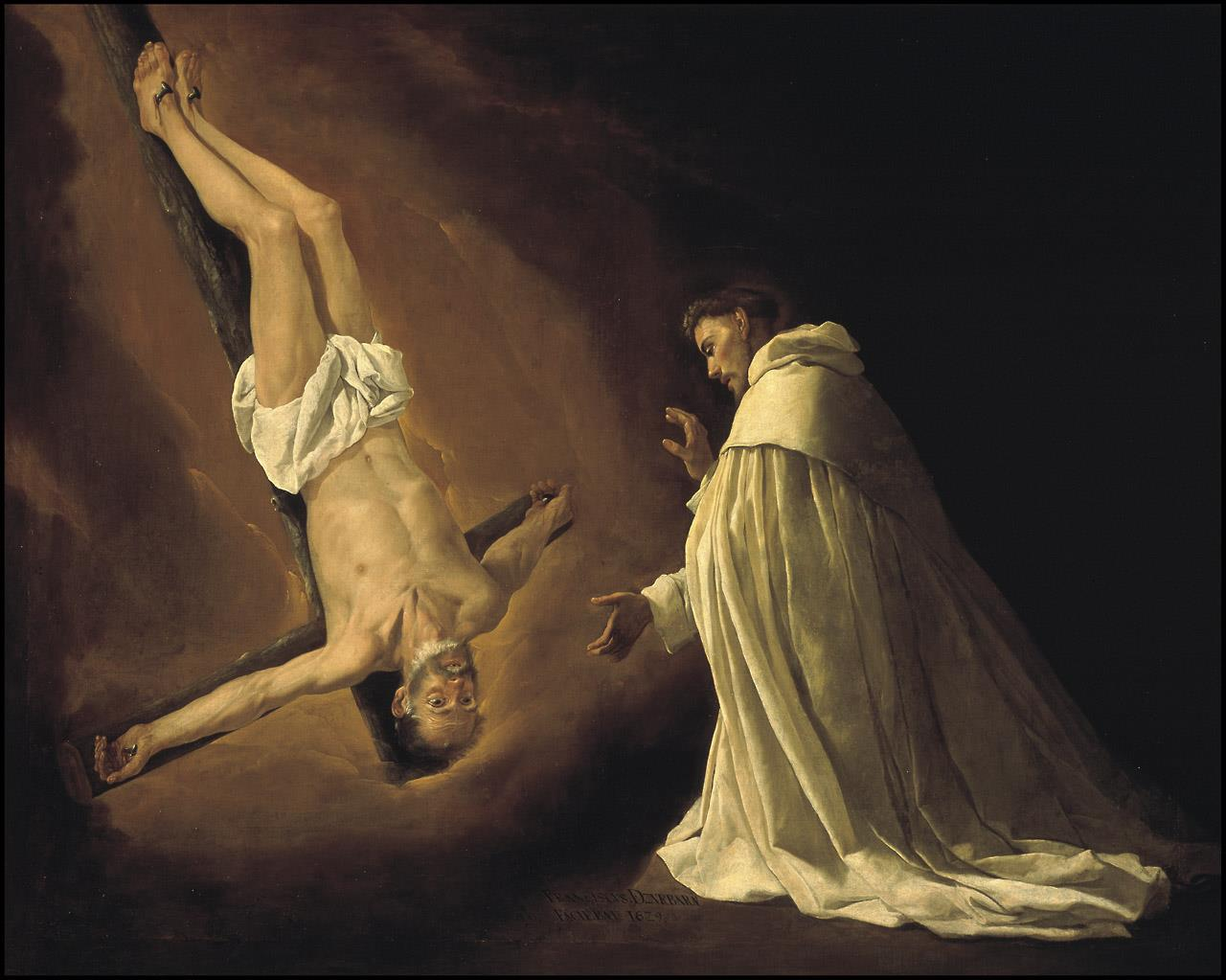 Aparición del apóstol san Pedro a san Pedro Nolasco [Zurbarán]