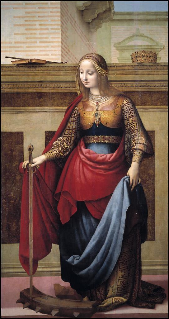 Resultado de imagen de F. Yáñez de la Almedina: 'Santa Catalina'. Museo Nacional del Prado.