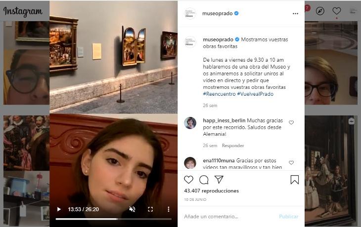 El Museo Nacional del Prado bate récord de presencia online en 2020