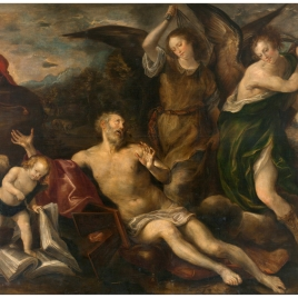 Saint Jerome Whipped by Angels