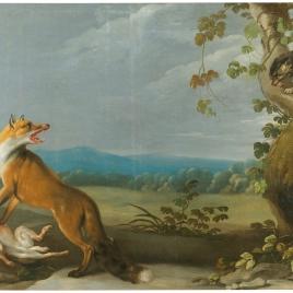 Una zorra, una liebre y un gato