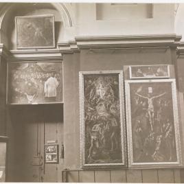 Museo del Prado, vista de la galería principal con la vitrina del Tesoro del Delfín