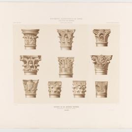 Capiteles de las basílicas visigodas conservados en la Mezquita de Córdoba