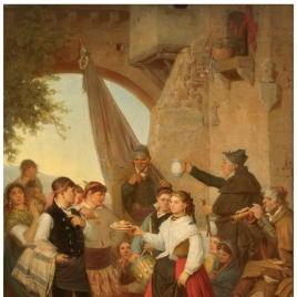 El presente. Fiesta mayor en Moncayo (Aragón), la víspera del santo patrono