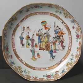 Circular dish. Dutch East India Company