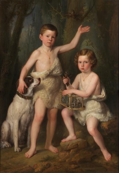 Raimundo Roberto y Fernando José, hijos de la infanta Josefa Fernanda de Borbón