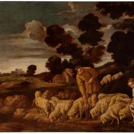 Jacob poniendo las varas a las ovejas de Labán
