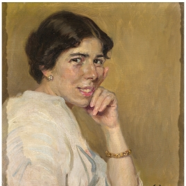 Pilar de Castro Gómez, esposa del pintor