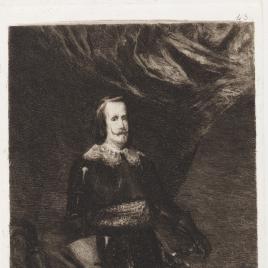 Felipe IV armado, con un león a los pies