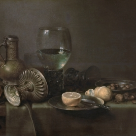 Still Life with Beer-pitcher and Orange