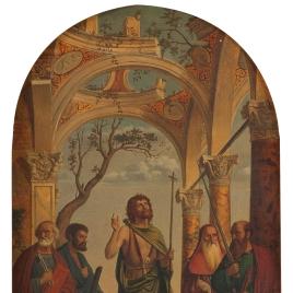 San Juan Bautista y santos