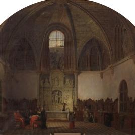 Interior de la capilla de San Bernardo, donde se juramentaron los comuneros de Castilla (hoy sacristía mayor de la catedral de Ávila), en ocasión de celebrarse una conferencia por su obispo y cabildo