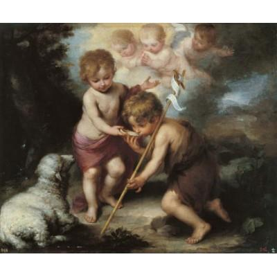 """The Christ Child and the Infant Baptist with a Shell"""
