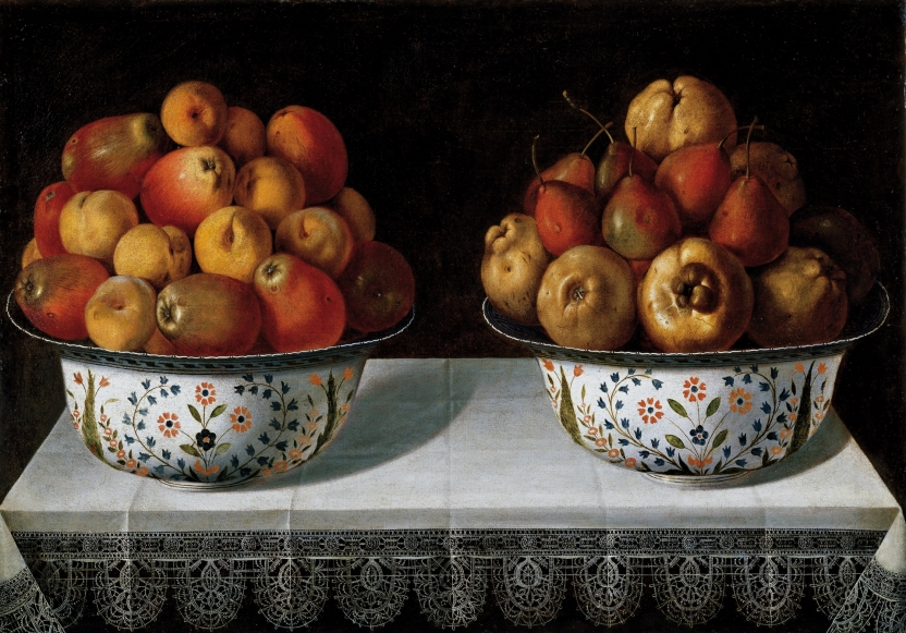 Two Fruit Bowls on a table