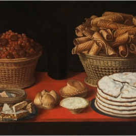 Sweetmeats and Dried Fruit on a Table