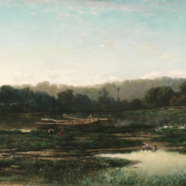 Paisaje de las orillas del Marne
