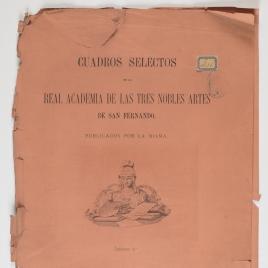 """Alegoría de las Artes. Portada del cuarto cuaderno de """"Cuadros selectos de la Academia de San Fernando"""""""