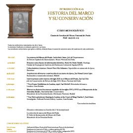 Introducción a la historia del marco y su conservación [Recurso electrónico]: curso monográfico / Museo Nacional del Prado.