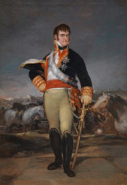 Fernando VII en un campamento