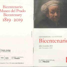 Bicentenario : exposiciones : julio - diciembre 2019 = exhibitions : july - december 2019 / Museo Nacional del Prado.