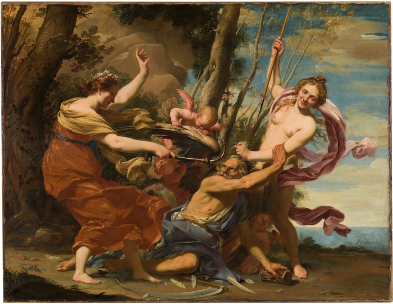 Time defeated by Hope and Beauty, by Simon Vouet