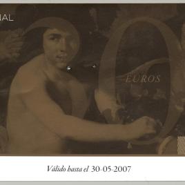 Dos billetes de entrada al Museo del Prado en 2007