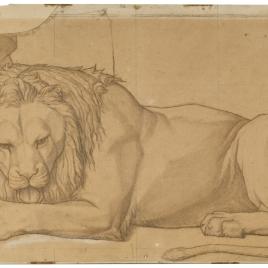 Estudio para la figura de león (Nuestra Señora de Fourvière, Lyon)