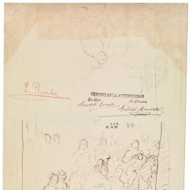 Entrada triunfal durante la Reconquista. Caballero arrodillado / Caballero del siglo XV orando, arrodillado ante un altar en presencia de varios personajes