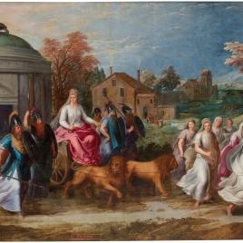 Alegoría del mes de Diciembre con el triunfo de Cibeles