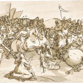 Batalla de caballería [Batalla de Cascina (¿?)]