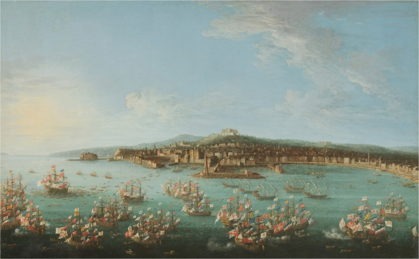 Departure of Charles of Bourbon for Spain, seen from the Sea