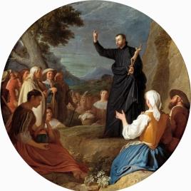Saint John Francis Regis preaching