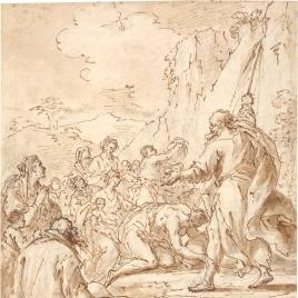 Moisés y el agua de la roca