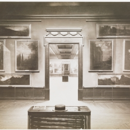 Museo del Prado, vista de una sala con paisajes