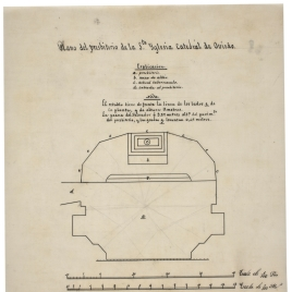 Plano de la planta del presbiterio de la Iglesia catedral de Oviedo