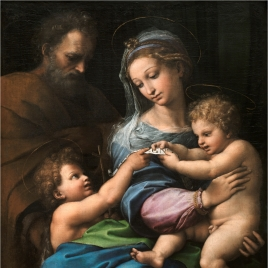 The Holy Family with the Infant Saint John the Baptist or Madonna of the Rose