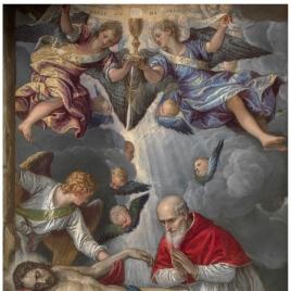 Cristo yacente adorado por el papa Pío V