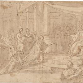 Salomón recibe a la reina de Saba