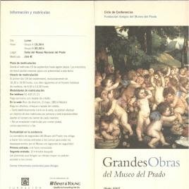 Grandes obras del Museo del Prado : otoño 2007 : ciclo de conferencias / Amigos del Museo del Prado.