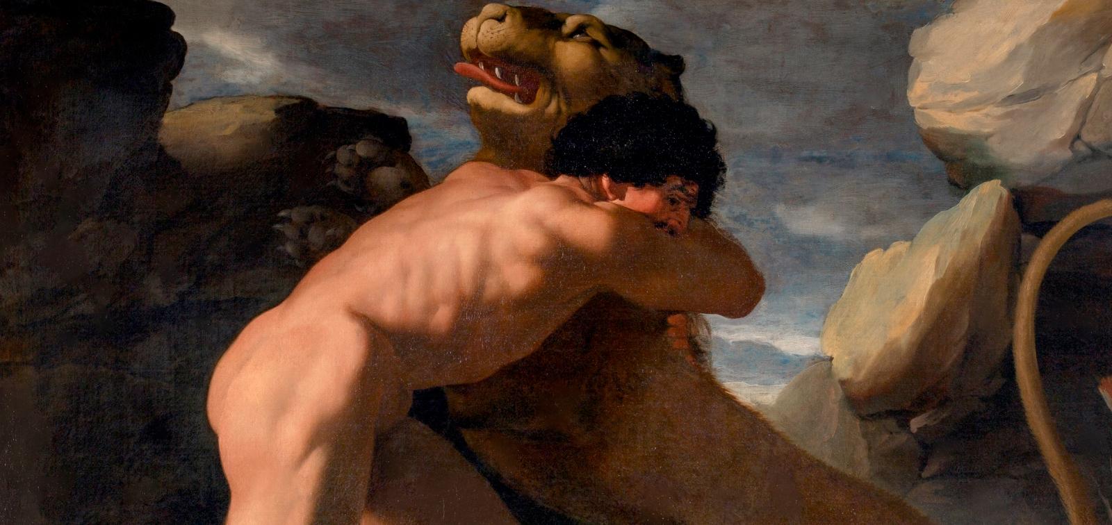 Invencibles en el Prado. Hércules lucha contra el león de Nemea