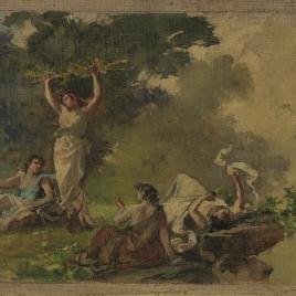 Figuras clásicas en un bosque
