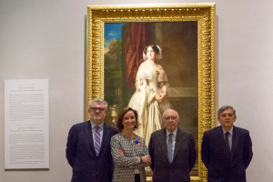 The Museo del Prado is displaying Federico de Madrazo's portrait of the Marchioness of Espeja, donated by Alicia Koplowitz