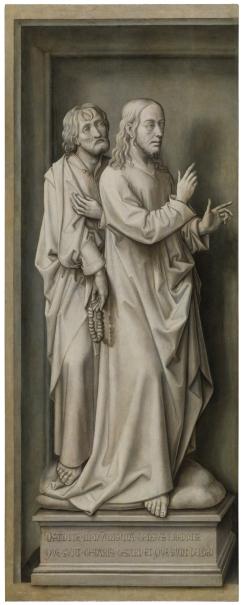 Tríptico de la Redención: la moneda del César (Jesús y un apóstol)