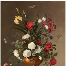 Florero y recipiente de cristal