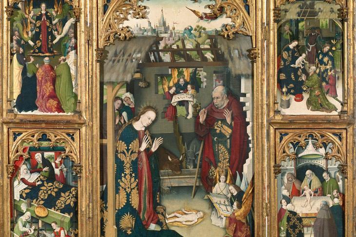 Tríptico del Nacimiento de Jesús, del Maestro del Tríptico del Zarzoso